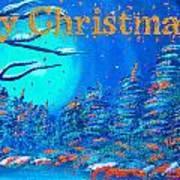 Merry Christmas Wish V3 Art Print