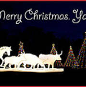 Merry Christmas Ya'll Art Print