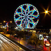 Merry Ferris Wheel Art Print by Troy Espiritu