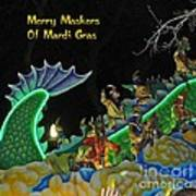 Merry Maskers Of Mardi Gras Art Print