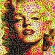 Marilyn - Colored Diamonds Art Print