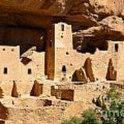 Mesa Verde National Park Cliff Palace Pueblo Anasazi Ruins Art Print