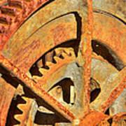 Meshing Gears Print by Phyllis Denton