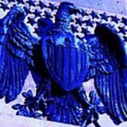 Metal American Eagle Symbol Art Print