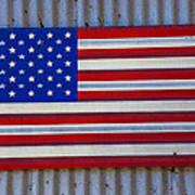 Metal American Flag Art Print