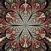 Metal Flower Art Print