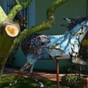 Metal Horse Sculpture Art Print