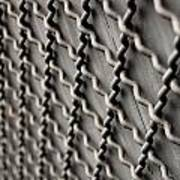 Metal Texture Forms Art Print