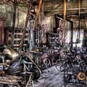 Metal Worker - Belts And Pullies Art Print