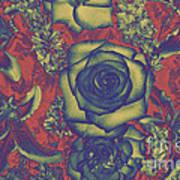 Metalic Rose Art Print