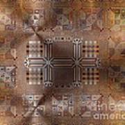 Metallic Pattern Art Print