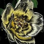 Metallic Rose Art Print