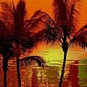 Metallic Sunset Art Print