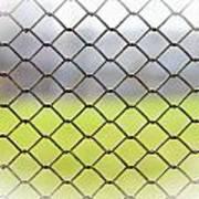 Metallic Wire Fence Art Print