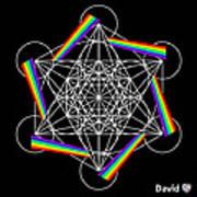 Metatron's Rainbow Healing Cube Art Print