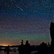 Meteors Over Mono Lake Art Print