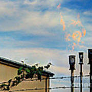 Methane Flares Art Print