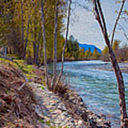 Methow River Coming From Mazama Art Print by Omaste Witkowski
