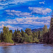 Methow River Crossing Art Print