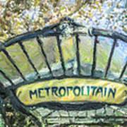 Metro Abbesses Art Print