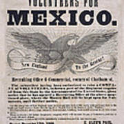 Mexican American War Flyer Art Print
