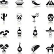 Mexican Icon Set Art Print