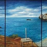 Mexican Ocean Beach  Art Print by Nora Vega