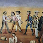 Mexico Satire, C1850 Art Print
