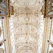 Mezquita Cathedral Ceiling In Cordoba Art Print