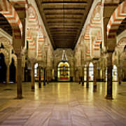 Mezquita Interior In Cordoba Art Print