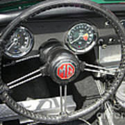 Mg Midget Instrument Panel Art Print