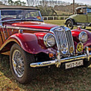 Mg Model Tf 1953 And Ford Model A 1928 Roadsters Art Print