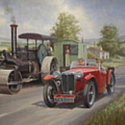 Mg Sports Car. Art Print