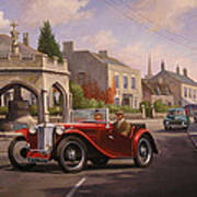 Mg Tc Sports Car Art Print
