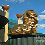 Mgm Lion In Las Vegas Art Print