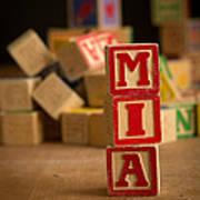 Mia - Alphabet Blocks Art Print