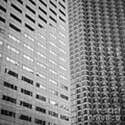Miami Architecture Detail 2 - Black And White - Square Crop Art Print by Ian Monk