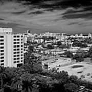 Miami Beach - 0153bw Art Print