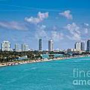 Miami Beach Skyline Art Print