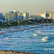 Miami Beach Sunset Art Print