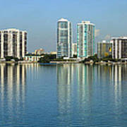 Miami Brickell Skyline Art Print