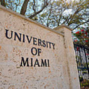 Miami Campus Sign In Spring Art Print by Replay Photos