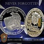 Miami Dade Police Memorial Art Print