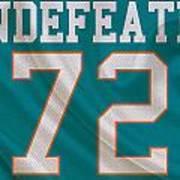 Miami Dolphins Undefeated Season Art Print