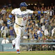 Miami Marlins V Los Angeles Dodgers Art Print