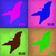 Miami Pop Art Map 1 Art Print