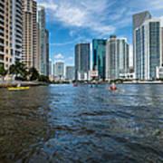 Miami River Kayakers Art Print