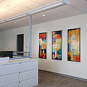 Miami Rythym Triptych Print by Sheila Elsea