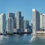 Miami Skyline, Miami-dade County Art Print