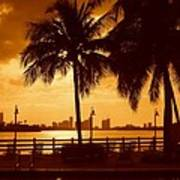 Miami South Beach Romance II Art Print
